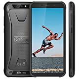 Telephone Portable Incassable, Blackview BV5500 Ecran 5.5 Pouces HD+18:9, 16Go ROM + 2Go RAM et 4400mAh Batteries, Android 8.1 avec Cameras 5MP + 13MP&0.3MP, GPS, 3G Smartphone Etanche - Noir