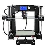 Imprimante 3D, ANET A6 Kit d'Imprimante 3D avec écran LCD (Prise en Charge des Cartes TF, Kit d'Imprimante 3D DIY)
