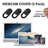 Cache Webcam, GEARGO webcam cache glissière de protection webcam, 0.76mm laptop webcam cover thin s'adapte aux Macboook Pro, iMac, Smartphones,Ordinateurs Portables (3 pièces)