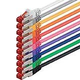 0,5m - 10 couleurs - 10 pièces - CAT6 Câble Ethernet Set - Câble Réseau RJ45 | 10 / 100 / 1000 Mo/s | câble de Patch | LAN Câble |CAT 6 | S-FTP | double blindage | PIMF | 250 MHz | compatible avec CAT 5 / CAT 6a / CAT 7 | pour le switch, routeur, modem, Patchpannel, point d'accès, panneaux de brassage