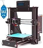 GUCOCO Imprimantes 3D, kit d'imprimante 3D de bureau DIY Wood Prusa i3, Imprimante 3D DIY de haute précision 200x200x180mm Taille d'impression (Prusa i3 Imprimantes 3D.)