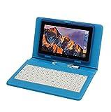 Tablette Tactile Ecran 7 Pouces, Tablet PC avec Clavier(AZERTY) Android Quad Core Ordinateur Portable, 8Go ROM, Double Caméras, WiFi, Bluetooth, Livré avec Stylo Tactile (Bleu)