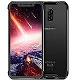 Blackview BV9600 Pro Smartphone Débloqué 4G LTE (2018) avec Écran Ultra-étroits AMOLED FHD 19:9, Processeur Helio P60 6Go + 128Go, Étanche et Antipoussière IP68 / IP69K - Noir