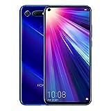 Honor View 20 Smartphone débloqué 4G (6,4 Pouces, 6Go RAM, 128 Go ROM, Double Nano SIM, Android P) Bleu saphir - [Version française]