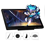 Huion Kamvas 20 : Tablette graphique avec écran, 8192 Niveaux fonction pen tilt sans Pile, Verre AG et support réglable Nomai
