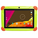 Tablette Enfants avec WiFi 2 GO Ram 32 GO Rom Tablette Tactile Enfants 7 Pouces Android-Google Play Store & Contrôle Parental Youtube, HD IPS1280*800 Quad Core Tablette - Vert