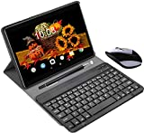 Tablette Tactile 10.1 Pouces 4G RAM 3Go+32Go/128Go ROM Android 9.0 Tablette Portable 10.1' Call 8500mAh Quad Core Double Caméra 8MP WiFi Tablette Android Pas Cher 4G avec GPS Netflix OTG(Or)