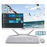 PC Tout-en-Un i7, Ordinateur Tout-en-Un 23,8 Pouces, Core i7 6500U, 32G RAM 512G SSD 1TB HDD, HDMI/VGA 4K Sortie, WiFi, BT, Windows 10 Pro, Clavier et Souris sans Fil Nomai