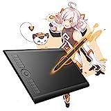 Gaomon M10K : Tablette graphique 10 x 6.25 Pouces avec stylet passif, 8192 Niveaux de Pression Nomai