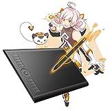 Gaomon M10K : Tablette graphique 10 x 6.25 Pouces avec stylet passif, 8192 Niveaux de Pression