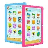 Tablette pour Enfants,SANNUO 10.1 Pouces Tablette Tactile(Andorid 9.0 et Enfant-Mode Double Système, Quad-Core, 2Go RAM,3G,WiFi,IPS 1280 * 800,Google Play,Jeux éducatifs)