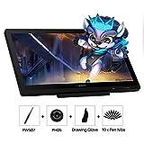 Huion Kamvas 20 : Tablette graphique avec écran, 8192 Niveaux fonction pen tilt sans Pile, Verre AG et support réglable